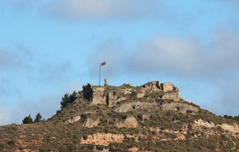 Vista del castell jorbenc, que data del segle X