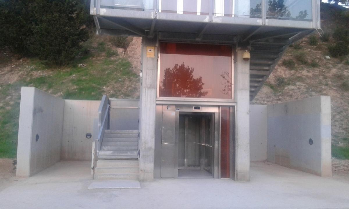 L'ascensor, en una imatge de 2016, quan va estar tres setmanes aturat