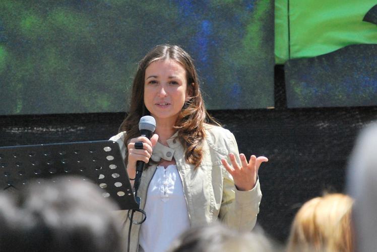 Marina Llansana, autora del llibre, també va participar de la festa