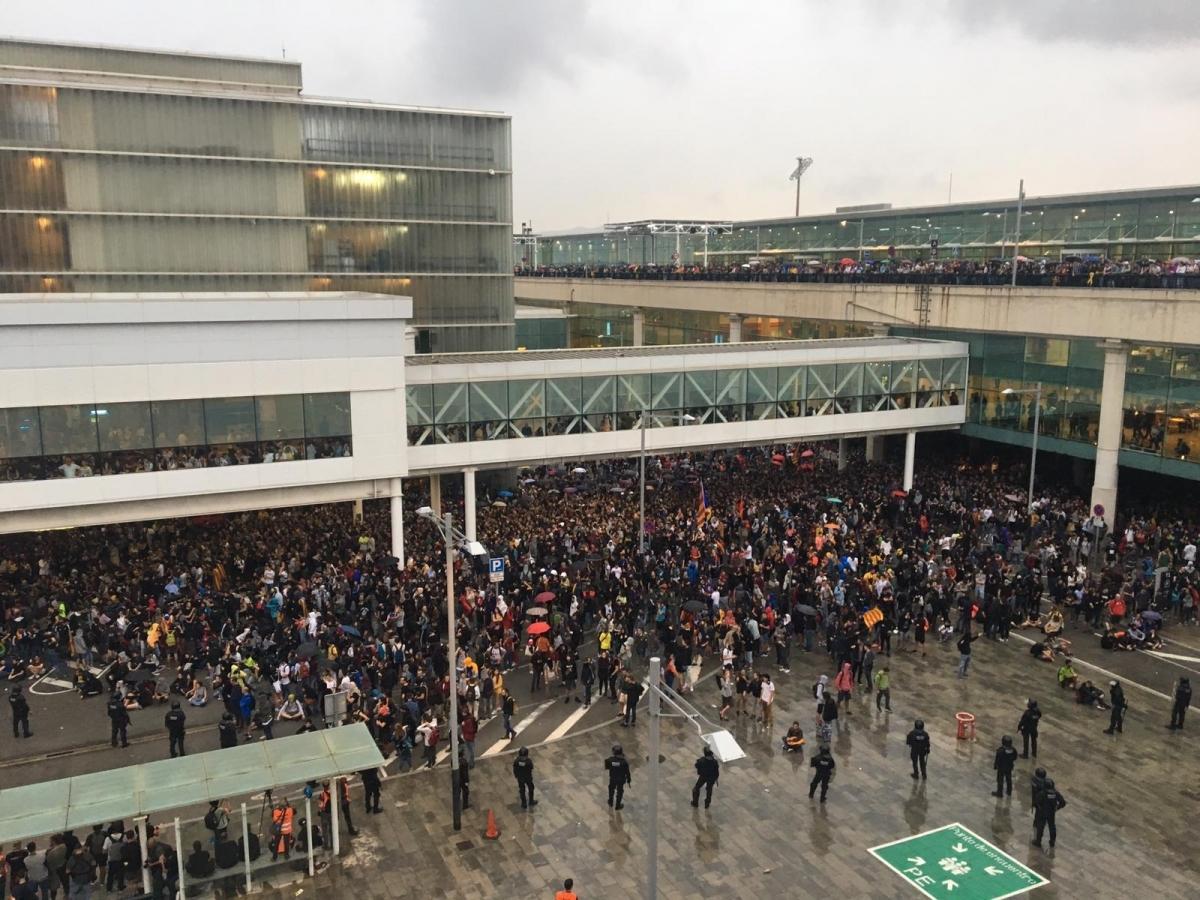 La mobilització de l'aeroport, una de les convocades per Tsunami Democràtic