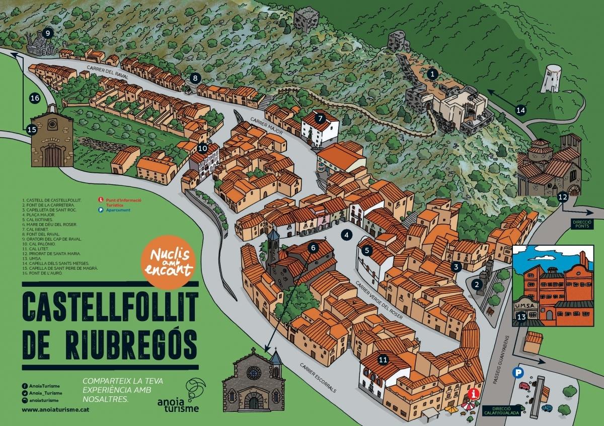 El mapa que ja es pot trobar a diversos punts, com Ajuntament i Consell