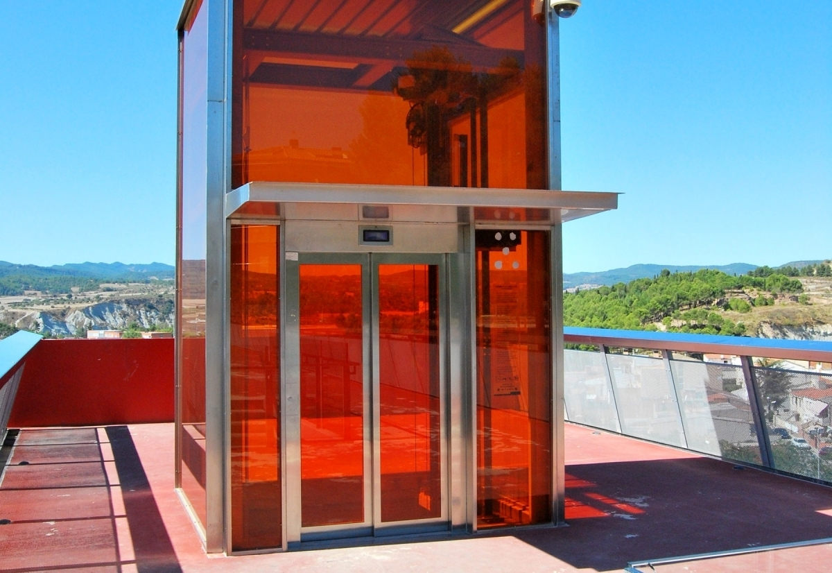 L'ascensor, que connecta els Set Camins amb Fàtima
