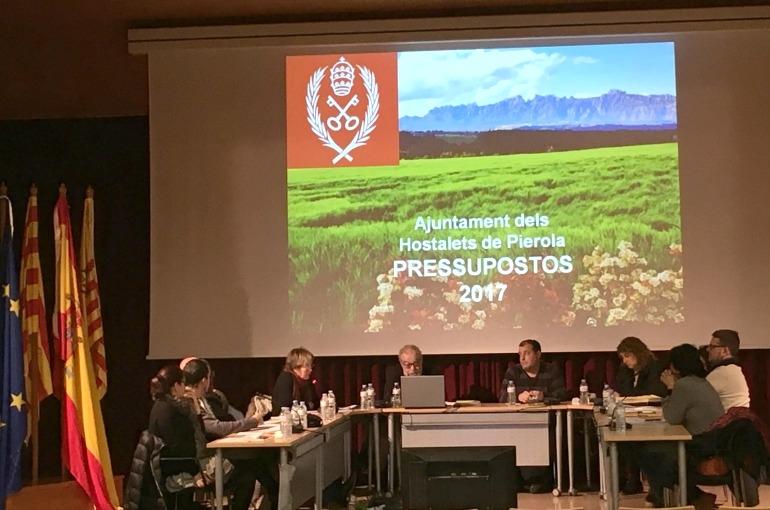 La sessió plenària del 19 de desembre, on es va aprovar el pressupost