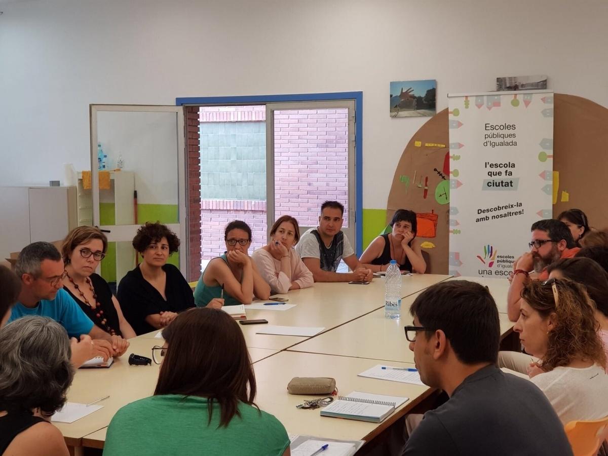 Una trobada d'AMPA d'escoles públiques d'Igualada