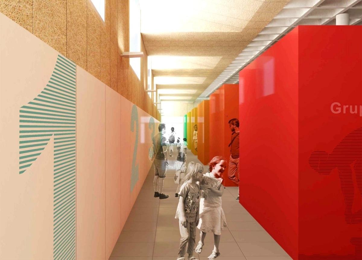 Una aproximació virtual de com serà la zona de vestidors